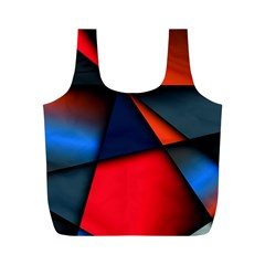 3d And Abstract Full Print Recycle Bags (M)
