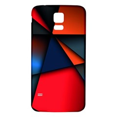 3d And Abstract Samsung Galaxy S5 Back Case (White)
