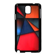 3d And Abstract Samsung Galaxy Note 3 Neo Hardshell Case (Black)