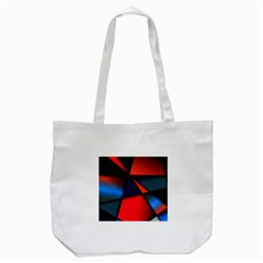 3d And Abstract Tote Bag (White)