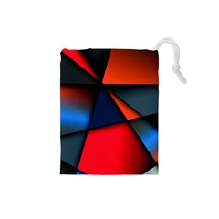 3d And Abstract Drawstring Pouches (Small)