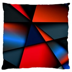3d And Abstract Large Flano Cushion Case (One Side)