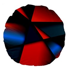 3d And Abstract Large 18  Premium Flano Round Cushions