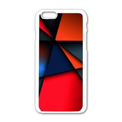 3d And Abstract Apple iPhone 6/6S White Enamel Case