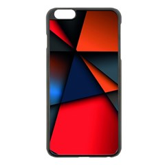 3d And Abstract Apple iPhone 6 Plus/6S Plus Black Enamel Case