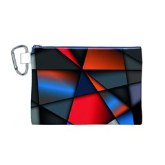 3d And Abstract Canvas Cosmetic Bag (M)