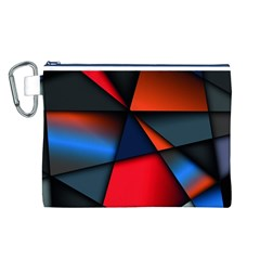 3d And Abstract Canvas Cosmetic Bag (L)