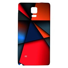 3d And Abstract Galaxy Note 4 Back Case