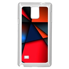 3d And Abstract Samsung Galaxy Note 4 Case (White)