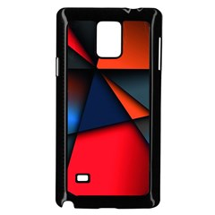 3d And Abstract Samsung Galaxy Note 4 Case (Black)