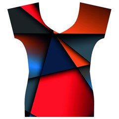 3d And Abstract Women s V-Neck Cap Sleeve Top