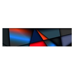 3d And Abstract Satin Scarf (Oblong)