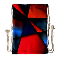 3d And Abstract Drawstring Bag (Large)