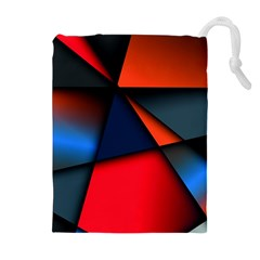 3d And Abstract Drawstring Pouches (Extra Large)