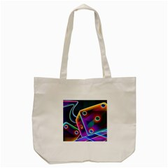 3d Cube Dice Neon Tote Bag (Cream)