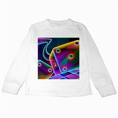 3d Cube Dice Neon Kids Long Sleeve T-Shirts