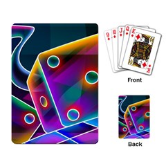 3d Cube Dice Neon Playing Card