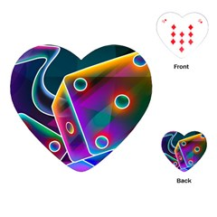 3d Cube Dice Neon Playing Cards (Heart)
