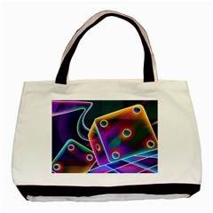 3d Cube Dice Neon Basic Tote Bag
