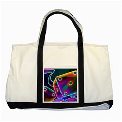 3d Cube Dice Neon Two Tone Tote Bag