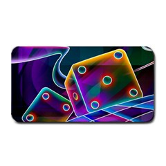 3d Cube Dice Neon Medium Bar Mats