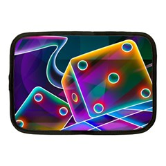 3d Cube Dice Neon Netbook Case (Medium)
