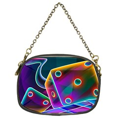 3d Cube Dice Neon Chain Purses (One Side)