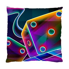 3d Cube Dice Neon Standard Cushion Case (Two Sides)