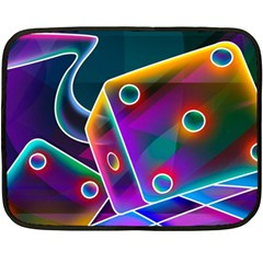 3d Cube Dice Neon Double Sided Fleece Blanket (Mini)