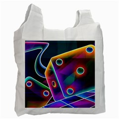 3d Cube Dice Neon Recycle Bag (Two Side)