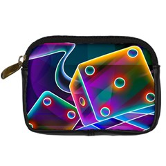 3d Cube Dice Neon Digital Camera Cases