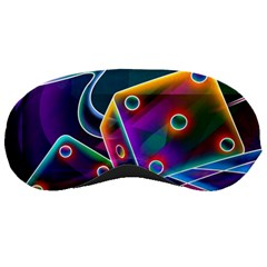 3d Cube Dice Neon Sleeping Masks