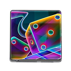 3d Cube Dice Neon Memory Card Reader (Square)