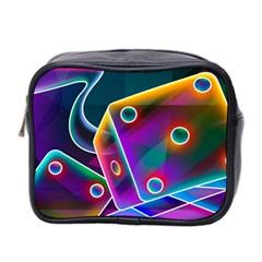 3d Cube Dice Neon Mini Toiletries Bag 2-Side