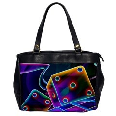 3d Cube Dice Neon Office Handbags
