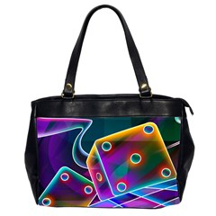 3d Cube Dice Neon Office Handbags (2 Sides)