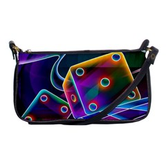 3d Cube Dice Neon Shoulder Clutch Bags