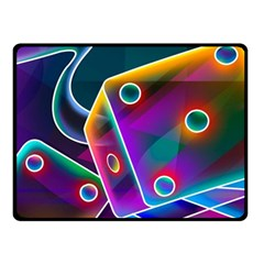 3d Cube Dice Neon Fleece Blanket (Small)