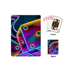 3d Cube Dice Neon Playing Cards (Mini)