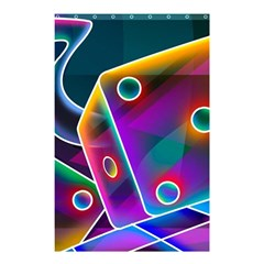 3d Cube Dice Neon Shower Curtain 48  x 72  (Small)