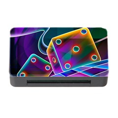 3d Cube Dice Neon Memory Card Reader with CF