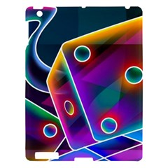 3d Cube Dice Neon Apple iPad 3/4 Hardshell Case