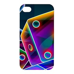 3d Cube Dice Neon Apple iPhone 4/4S Premium Hardshell Case