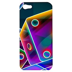 3d Cube Dice Neon Apple iPhone 5 Hardshell Case
