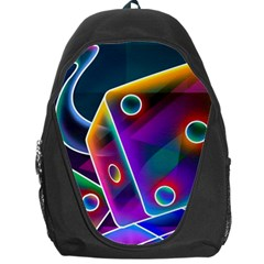 3d Cube Dice Neon Backpack Bag