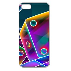 3d Cube Dice Neon Apple Seamless iPhone 5 Case (Clear)