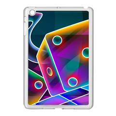 3d Cube Dice Neon Apple iPad Mini Case (White)