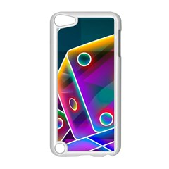3d Cube Dice Neon Apple iPod Touch 5 Case (White)