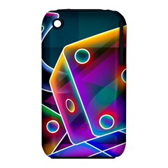 3d Cube Dice Neon iPhone 3S/3GS