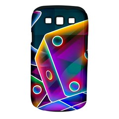 3d Cube Dice Neon Samsung Galaxy S III Classic Hardshell Case (PC+Silicone)